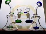 Tubo di vetro unito della mini dell'impianto offshore della LIMANDA di acqua del tubo del cranio dell'uovo del riciclatore di fumo femmina di vetro viola del tubo 18