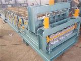 標準的な二重デッキによって艶をかけられるタイルおよび波形を付けられたカラー鋼鉄は機械を形作ることを冷間圧延する