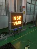 Tarjeta de mensaje portable de la matriz completa de Nse P25 LED con el acoplado VM de la fuente de la energía solar 12V