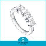 Nuovo polo elegante del Rhodium 2014 che imposta l'anello d'argento di Zircon 925 (SH-R0169)