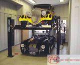 4つのポストデザインガレージの駐車装置車輪およびジャッキが付いているスマートな車の駐車上昇