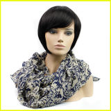 Black Short Hairpiece della signora europea