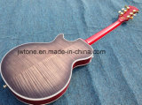 A parte superior acolchoada do bordo inflamou da qualidade feita sob encomenda traseira de Les Lp do bordo a guitarra elétrica