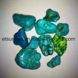 De turquesa azul de Stablized da pedra Semi preciosa presente de pedra áspero natural do ornamento