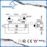El cuadrado expuso el cuarto de baño termostático del cromo de la válvula de ducha del mezclador de la barra fijado (AF4311-7)