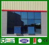 Het dubbel Aangemaakte Gehangen Venster van het Aluminium van het Glas Bovenkant
