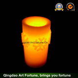 Battery Operated Christmas Decor를 가진 눈송이 Flameless LED Candle