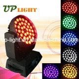 Estágio LED Lighting 36PCS * 18W Rgbwauv 6in1 Moving Head