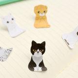 Almofada de memorando pegajosa das fontes de escola das notas do cão do gato dos desenhos animados