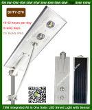 安い価格屋外IP65はPIRの動きセンサーが付いている1つの太陽LEDの街灯ランプのすべてを防水する