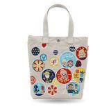 Saco de compra não tecido de papel do punho da lona do algodão do couro do saco de compra do presente (X027)