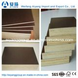 A madeira compensada/película Shuttering de Brown enfrentou a madeira compensada para o molde concreto