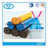 Sac d'ordures biodégradable en plastique personnalisé par LLDPE de cordon d'impression de LDPE de HDPE