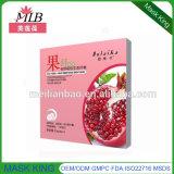 Mascarilla de seda hidratante de alimentación de la fibra de la fruta de la piel verde oliva