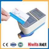 Mètre d'eau intelligent payé d'avance par carte intelligente de Hiwits IC avec le relevé automatique