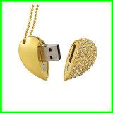 De Aandrijving van de Flits van de Juwelen USB van de Stok van het Geheugen van het Hart USB van het kristal