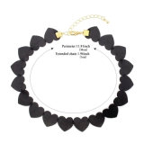 Trendy Halsband van de Nauwsluitende halsketting van het Leer van het Hart van de Juwelen van de Manier Mooie Zwarte