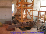 Guindaste de torre de escalada interno com carga de 4 toneladas