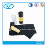 PET materieller schwarzer Farben-Abfall-Beutel in Stern gedichteter Unterseite