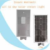 Heiße straßenlaterne-Preisliste des Verkaufs-5m Pole 12W integrierte LED Solarfür im Freien