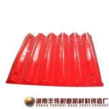 L'usura del frantoio parte il piatto della mascella d'acciaio del manganese