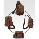 Las bolsas para transportar cadáveres utilitarias militares de cuero de la cruz del mensajero del hombro de la PU de la lona de la vendimia de Fresion grises