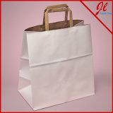 Blanco / Kraft Versa reciclado manija bolsa de ultramarinos