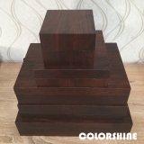 Alta joyería clásica de madera como el rectángulo de regalo del embalaje
