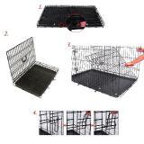 Cage d'étalage d'animal familier pour le petit crabot