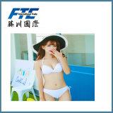 Swimwear senza bretelle sexy del Bandeau del bikini delle signore di colore a due pezzi di contrasto