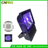Blacklight 100W 옥외 UV LED 플러드 빛 390nm 치료