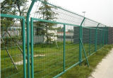 Pipe Wire Mesh Fence Steel Posts円形またはSquare