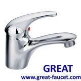 Messing Handgriff-Badezimmer-Waschbecken-Hahn aussondern
