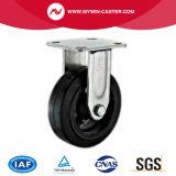鋼鉄平たい箱の踏面の黒の車輪の6インチのゴム