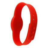 Silicone vermelho RFID Wristband&#160 da elipse; Waterproof para o abridor da porta