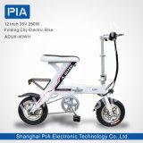 12 bici eléctrica plegable de la ciudad de la pulgada 48V 250W (ADUK-40WH)