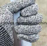 Luvas baratas do nível 5 das luvas da segurança da luva do trabalho das luvas do corte