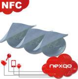 De douane Afgedrukte Markering van de Sticker van RFID 13.56MHz HF NFC met Spaander Ntag213/Ntag215/Ntag216