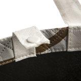 Bolso no tejido modificado para requisitos particulares del bolso del regalo de las compras de los vidrios de las gafas de sol de Eyewear del diseño con la cremallera para la promoción