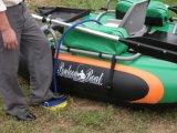 Bateau de pêche gonflable de PVC de kayak simple équipé du moteur