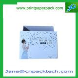 Kundenspezifischer überzogenes Papier-Oberseite-u. Unterseiten-Kappen-Kasten-Farben-Verpackungs-Geschenk-verpackenkasten