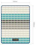 100%年の幾何学的な図が付いているポリエステルによって印刷される羊毛毛布