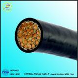 Câble de commande de cuivre isolé par PVC d'en cuivre d'écran