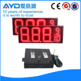El panel impermeable rojo del precio de la gasolina de la pulgada LED de Hidly 12