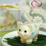 Nette kleine Schwein-Geschenk-Kerze für Kind-Geburtstag-Kunst-Kerze-Geschenk-Set