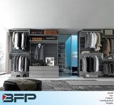 Caminhada moderna do PVC no Wardrobe do quarto do armário