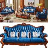 Hölzernes Sofa mit hölzernem Tisch für Wohnzimmer-Möbel (992D)