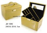 Rectángulo de Joyería de Madera de la Caja de la Joyería de la Caja del Regalo de la Caja de Embalaje de la PU de Joyería del Rectángulo del Rectángulo Único de la Belleza