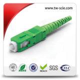 Singlemode&#160 ; Sc/PC à plusieurs modes de fonctionnement - cordon de connexion de fibre optique de Sc appliqué à CATV de fibre optique