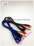 RCA Kabel 3.5mm/3.5, 6.35mm/6.35, StereoStop 6.5mm/6.5 aan 2xrca Av/tv- Audio/de Kabel van Media